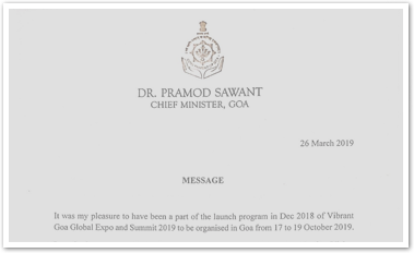 Hon. Chief Minister Of Goa, Dr. Pramod Sawant Message